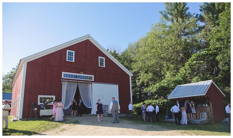 red barn wedding nh