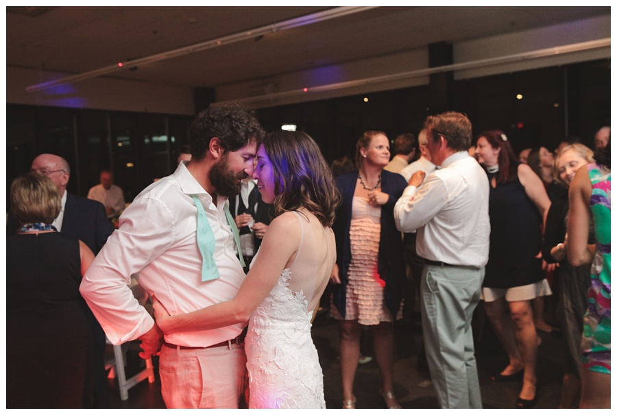 wedding reception at community rowing