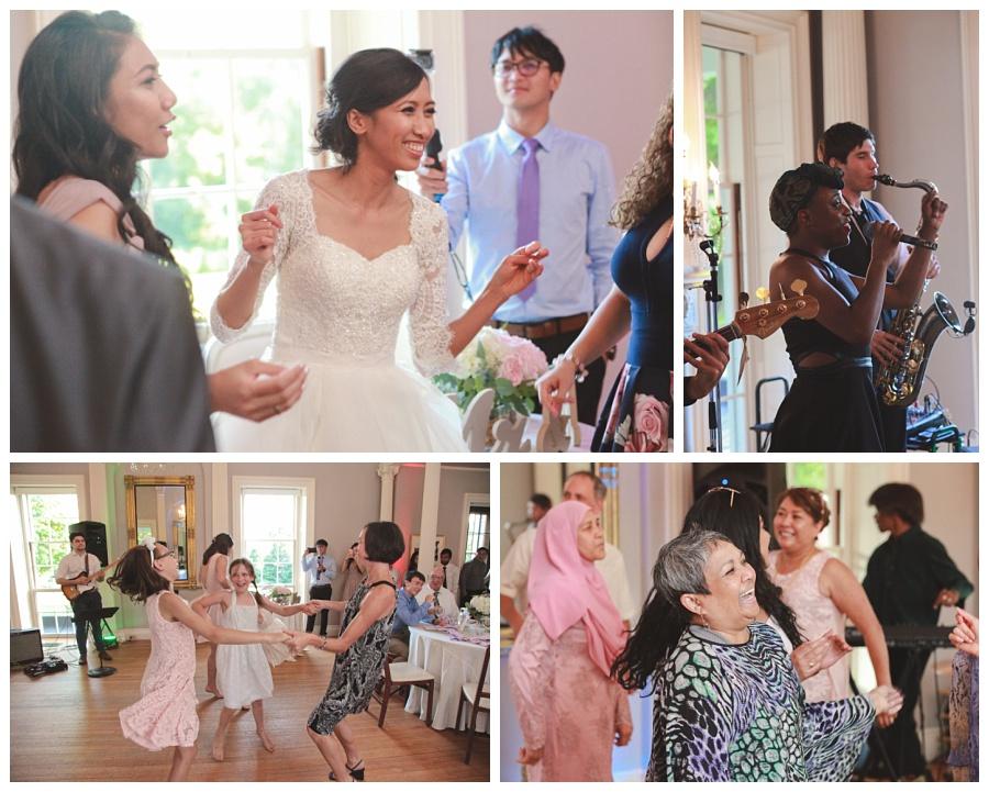 wedding reception lyman estate
