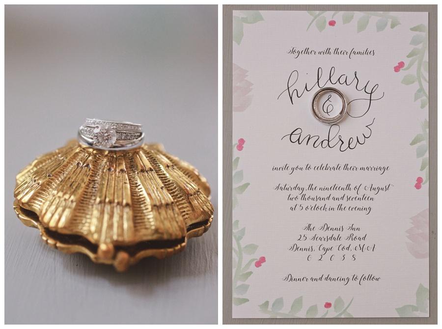 seaside wedding details