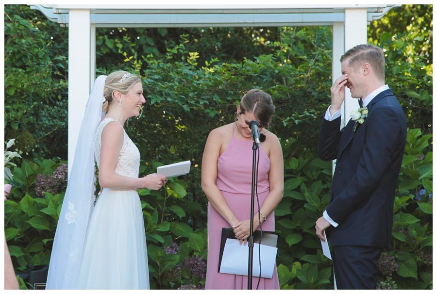 outdoor wedding ceremony cape cod