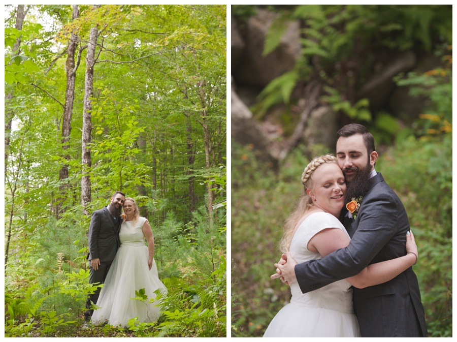 summer wedding in the woods nh