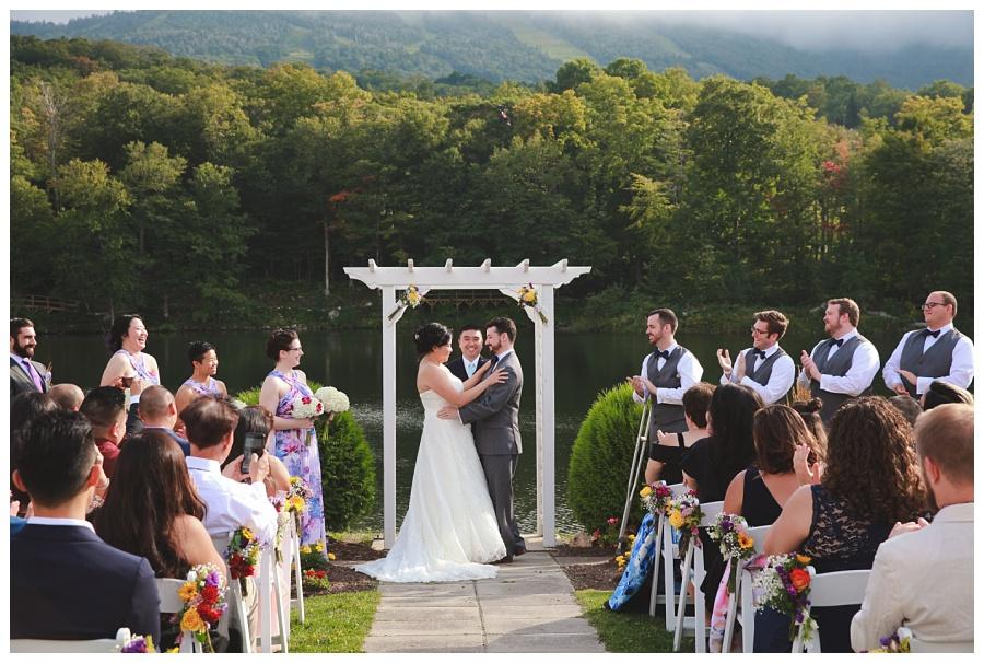 nh mountains wedding photos