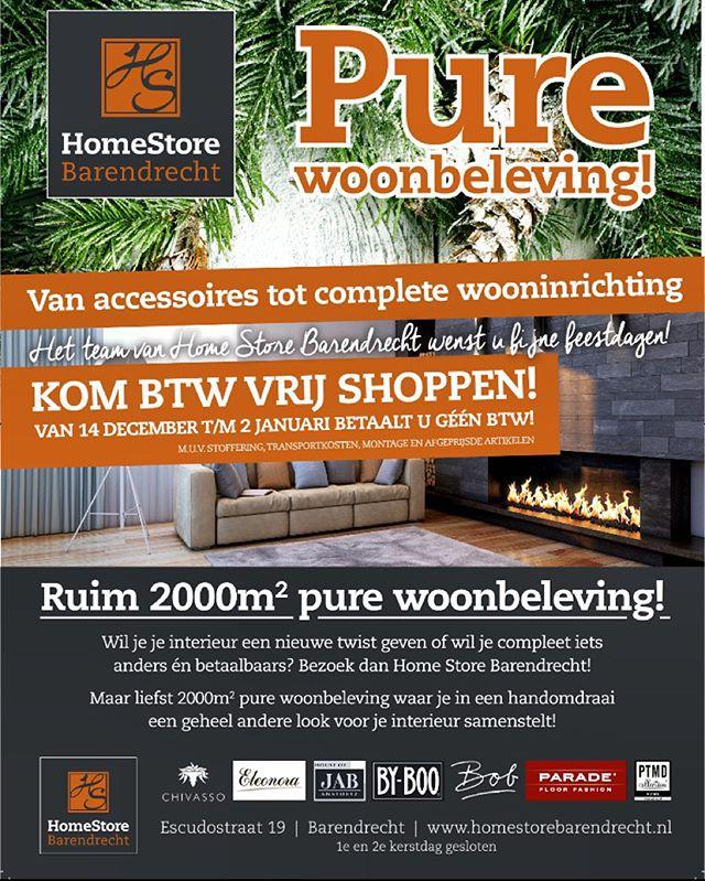 Btw vrij shoppen #homestore #barendrecht #design #interieur