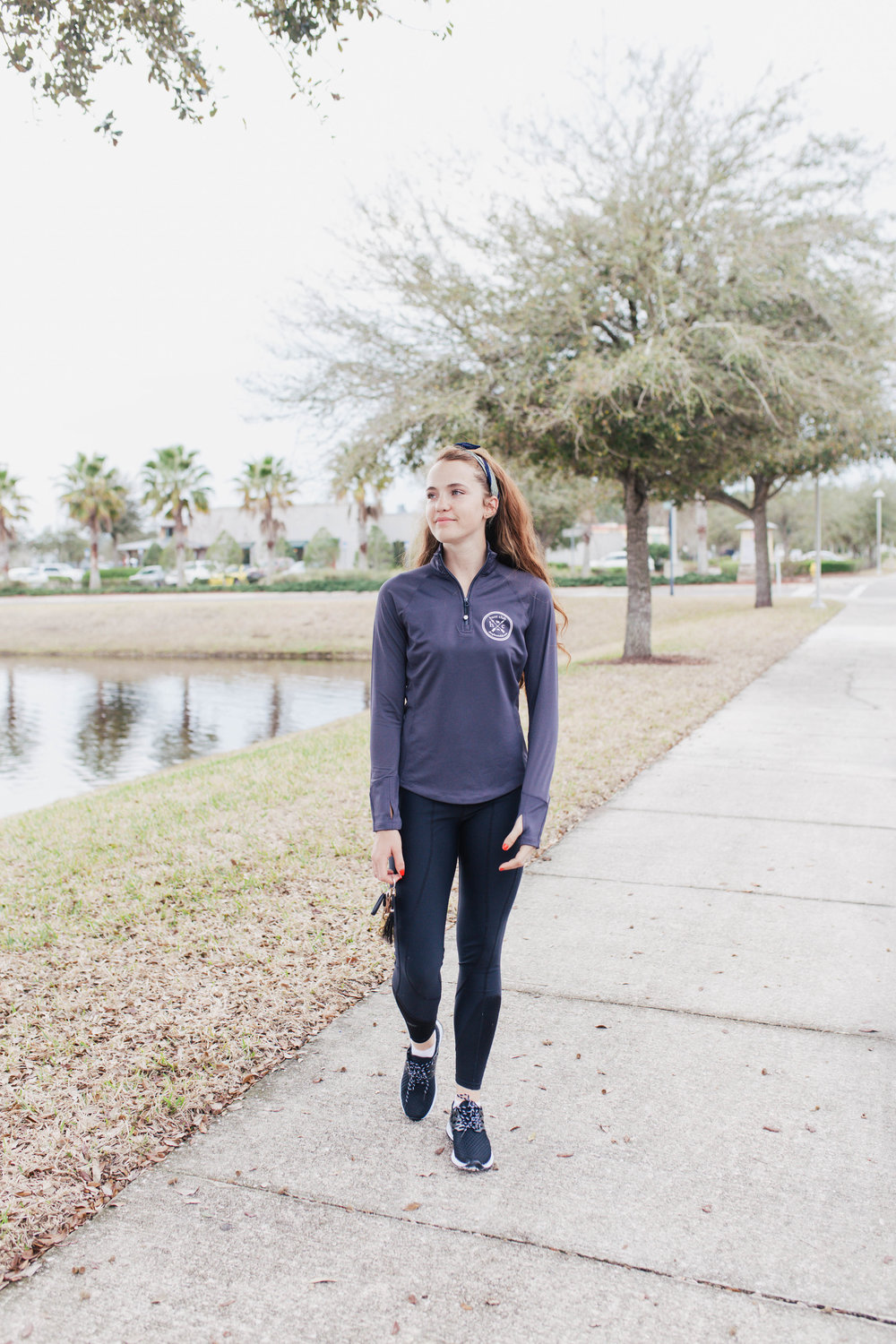 You may have seen me sport this performance pullover in black (because I wear it all the time!) but I just love this gray version. It is that blue gray that looks great with black leggings, perfect for tan breeches and you can even rock it with a pair of jeans!