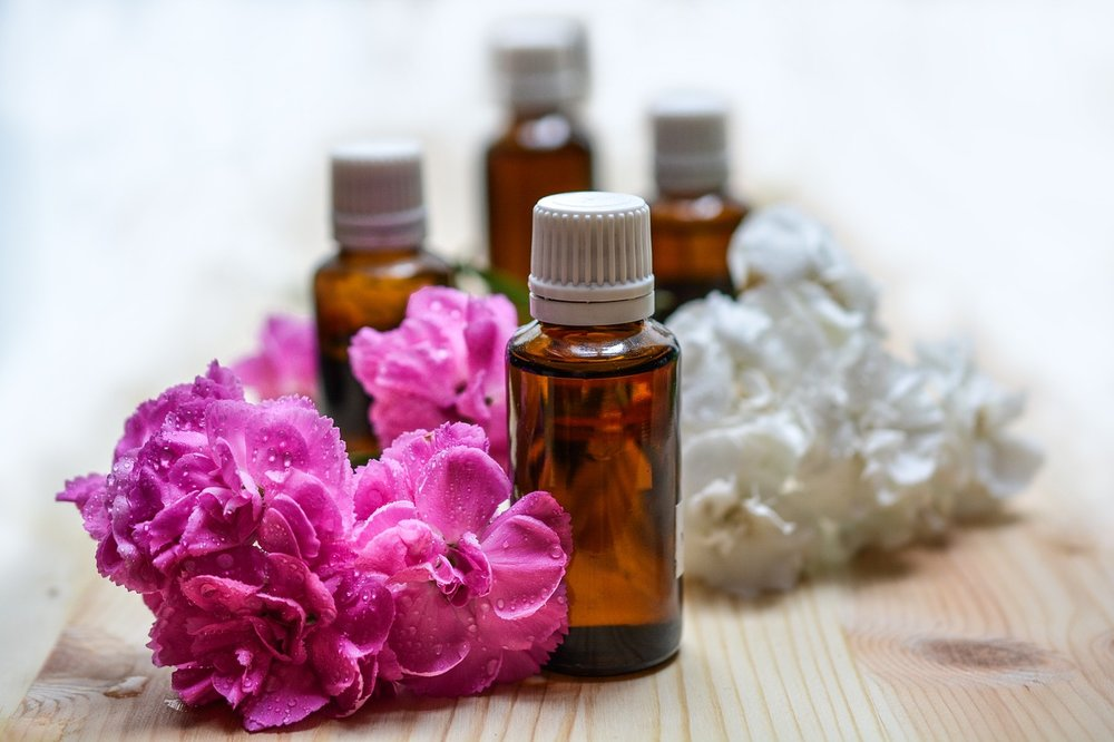 Essential Oils:   Different oils can help with healing effects mentally, physically, and emotionally. You can apply them directly onto your skin, inhaling, or use it through a diffuser.