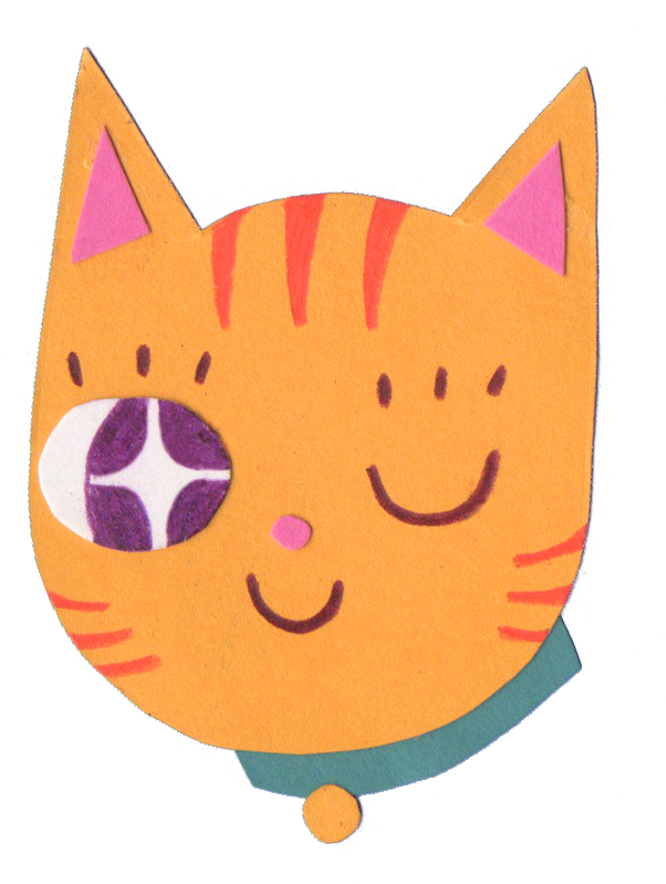 Winking Cat (Sticker), 2018