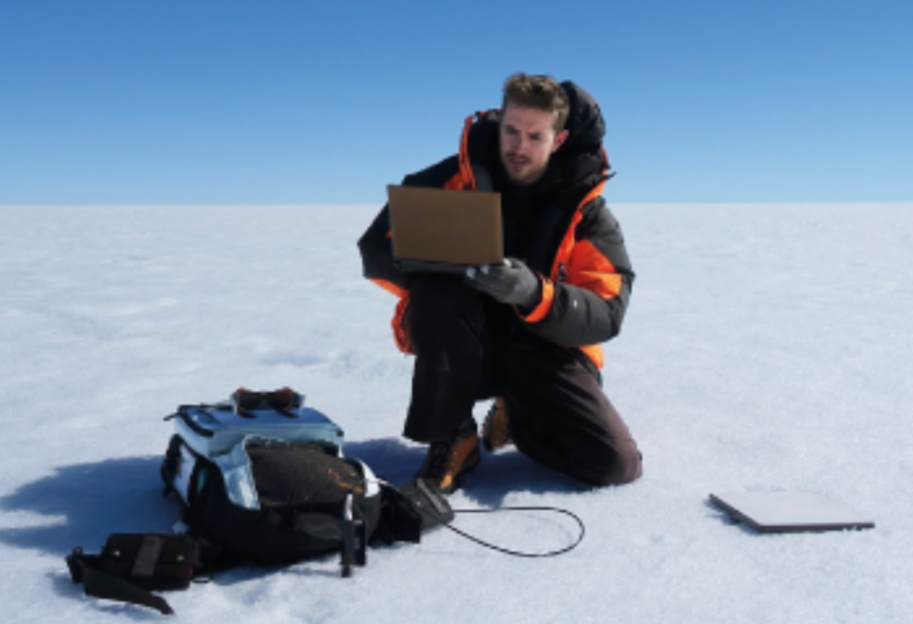 "Joseph Cook  - Climate Action  A glacial microbiologist, an explorer of the microscopic ""frozen rainforest"" on the surface of the Greenland ice sheet, Cook has worked on the UK National Environmental Research Council's 'Black and Bloom' project, at the University of Sheffield to measure and model biological darkening of ice."