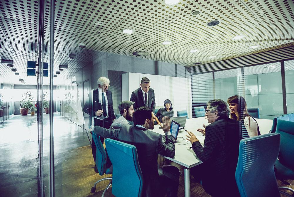 Office boardroom meeting