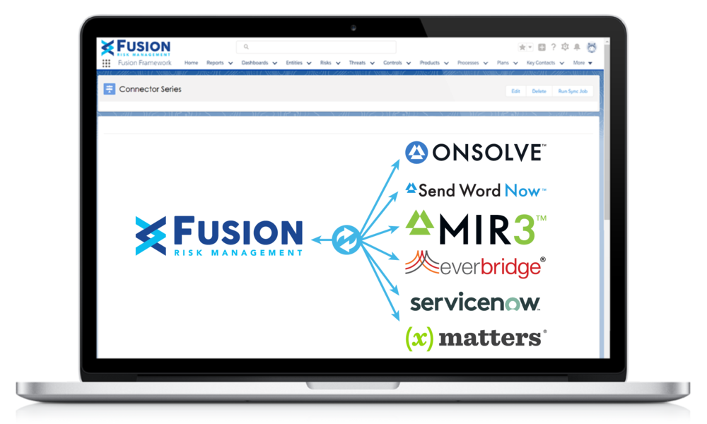 Fusion Connector Series screenshot on laptop and mobile