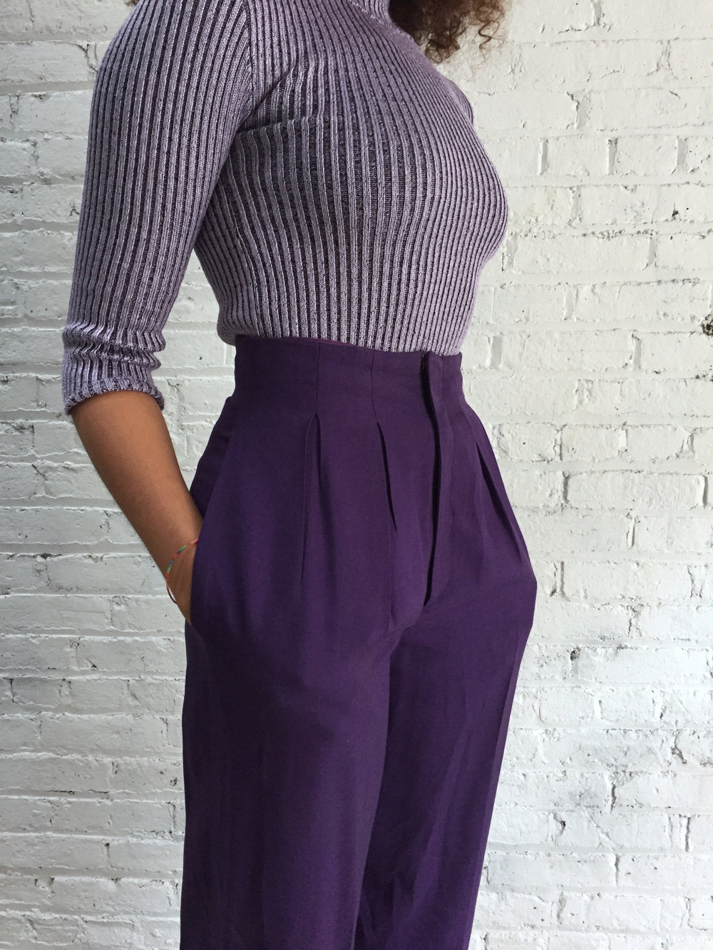 Purple High Waisted Dress
