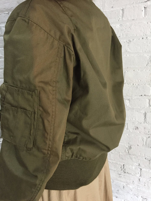 vintage army green military bomber jacket   nomex flight jacket ... aaf8ce0b906