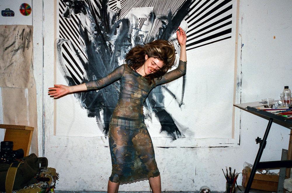 90s mesh body con dress / 1990s stretchy bandage dress / sheer dress grunge dress