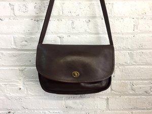 vintage Coach pocket purse   classic chocolate brown crossbody ...