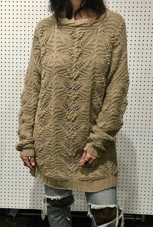 f09d17153dac vintage 90s chunky sweater   neutral 1990s oversize sweater dress ...