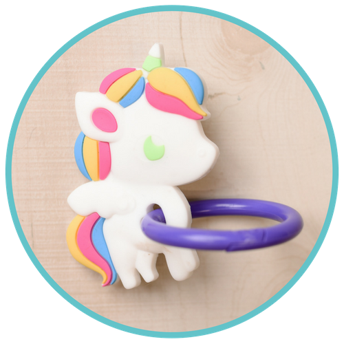 Unicorn Teether Drop Stopper Attachment