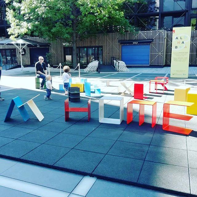 Exploring #shoreditch @kellenbergerwhite - Alphabet chairs