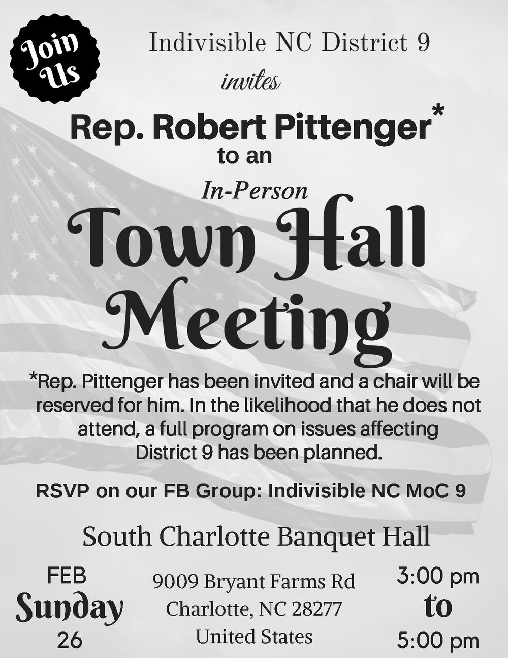 Pittenger Town Hall (invited)