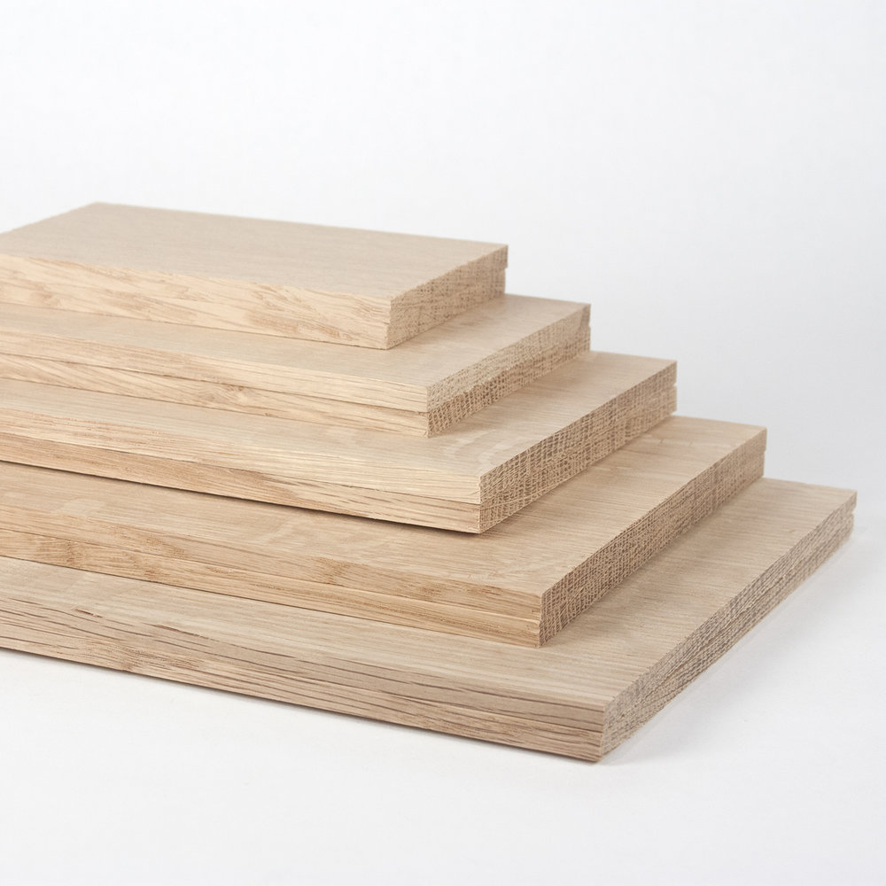 Pictured: white oak 1/4 inch boards