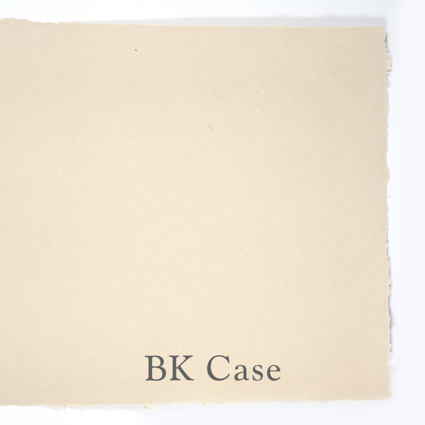 """These specialty papers were created for Barbara Korbel, a bookbinder in the Chicago area. They are composed of flax and cotton. The case comes in 3 thicknesses: .015"""", .013"""", .010"""". The text weight is about .004"""". This paper is internally sized."""