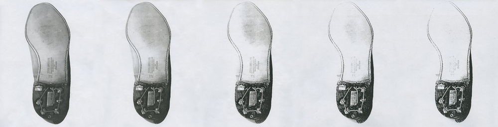 """Infestation of the Sole"" - five photocopies of a Cold-War era shoe transmitter"