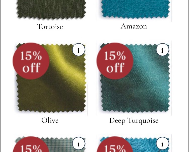 Colour - Choose your colour. We went for Olive velvet, Its always been a dream to have a velvet sofa.