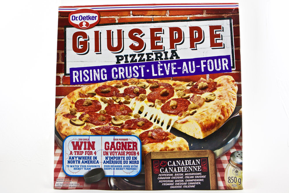 Dr. Oetker Giuseppe Rising Crust Canadian Pizza