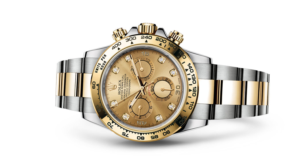 "COSMOGRAPH DAYTONA<br><span class=""watch-des"">Oyster, 40 mm, Oystersteel and yellow gold</span>"