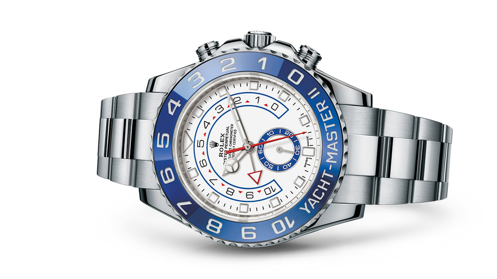 """YACHT-MASTER II<br><span class=""""watch-des"""">Oyster, 44 mm, Oystersteel</span>"""
