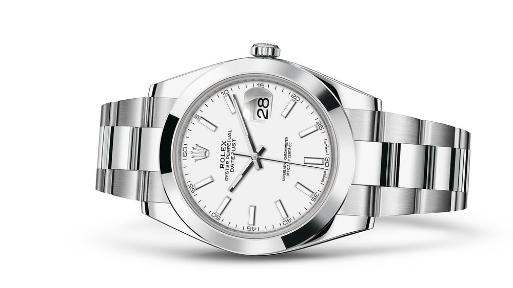 """DATEJUST 41<br><span class=""""watch-des"""">Oyster, 41 mm, Oystersteel</span>"""