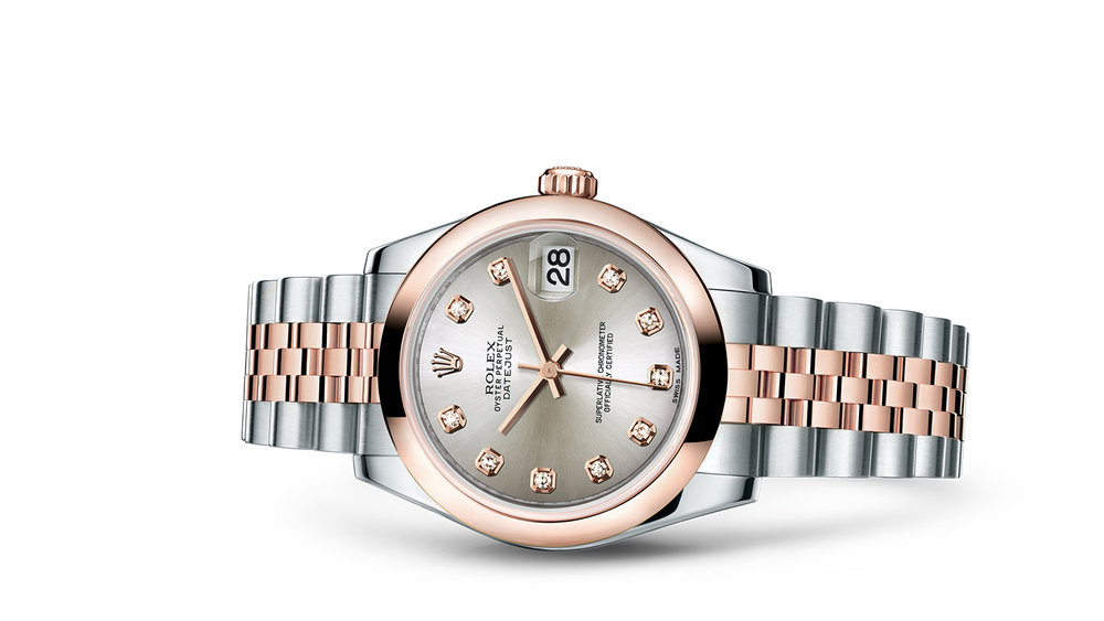 "DATEJUST 31<br><span class=""watch-des"">Oyster, 31 mm, Oystersteel and Everose gold</span>"