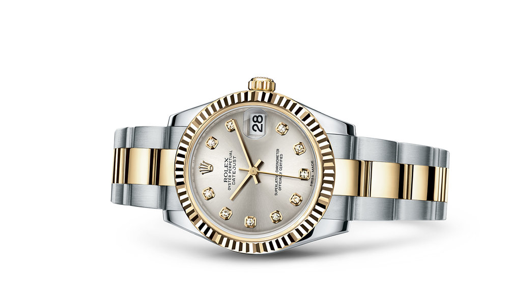 """DATEJUST 31<br><span class=""""watch-des"""">Oyster, 31 mm, Oystersteel and yellow gold</span>"""