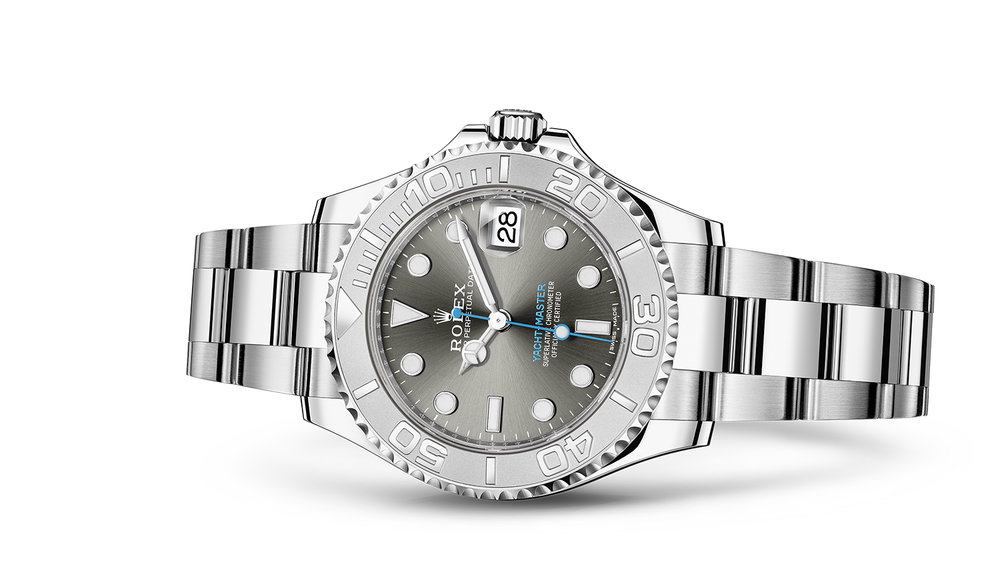 """YACHT-MASTER 37<br><span class=""""watch-des"""">Oyster, 37 mm, Oystersteel and platinum</span>"""