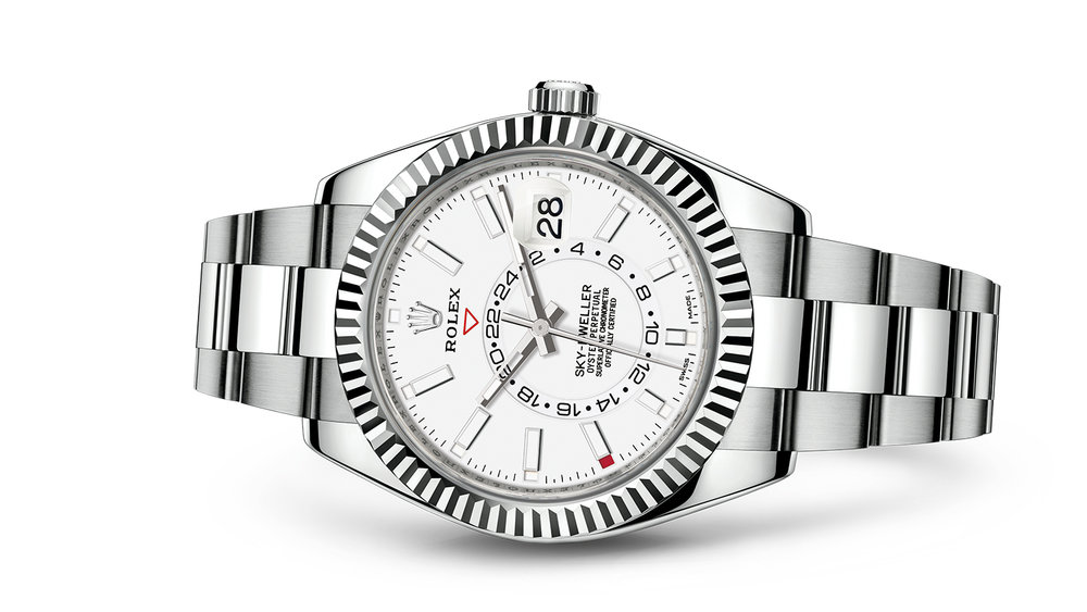 "SKY-DWELLER<br><span class=""watch-des"">Oyster, 42 mm, Oystersteel and white gold</span>"