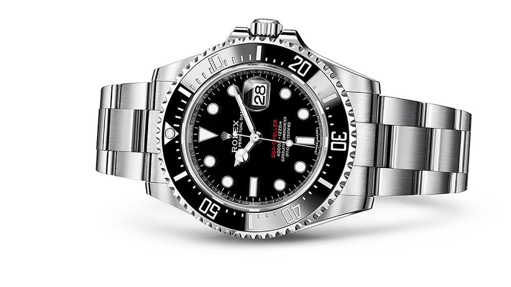 "SEA-DWELLER<br><span class=""watch-des"">Oyster, 43 mm, Oystersteel</span>"