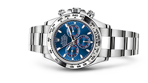 "COSMOGRAPH DAYTONA<br><span class=""watch-des"">Oyster, 40 mm, white gold</span>"