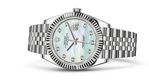 "DATEJUST 41<br><span class=""watch-des"">Oyster, 41 mm, Oystersteel and white gold</span>"