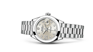 "LADY-DATEJUST 28<br><span class=""watch-des"">Oyster, 28 mm, platinum</span>"
