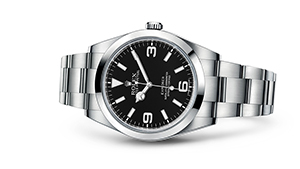 """EXPLORER<br><span class=""""watch-des"""">Oyster, 39 mm, Oystersteel</span>"""