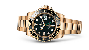 """GMT-MASTER II<br><span class=""""watch-des"""">Oyster, 40 mm, yellow gold</span>"""