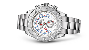 "YACHT-MASTER II<br><span class=""watch-des"">Oyster, 44 mm, white gold and platinum</span>"