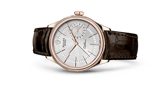 """CELLINI DATE<br><span class=""""watch-des"""">39 mm, 18 kt Everose gold, polished finish</span>"""