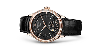 """CELLINI DUAL TIME<br><span class=""""watch-des"""">39 mm, 18 kt Everose gold, polished finish</span>"""