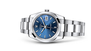 """DATE 34<br><span class=""""watch-des"""">Oyster, 34 mm, Oystersteel</span>"""
