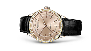 """CELLINI TIME<br><span class=""""watch-des"""">39 mm, 18 kt Everose gold, polished finish</span>"""
