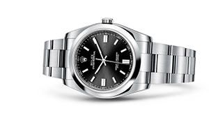 """OYSTER PERPETUAL 36<br><span class=""""watch-des"""">Oyster, 36 mm, Oystersteel</span>"""