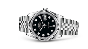 "DATEJUST 36<br><span class=""watch-des"">Oyster, 36 mm, Oystersteel and white gold</span>"