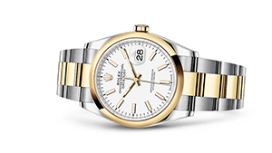 "DATEJUST 36<br><span class=""watch-des"">Oyster, 36 mm, Oystersteel and yellow gold</span>"