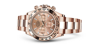 "COSMOGRAPH DAYTONA<br><span class=""watch-des"">Oyster, 40 mm, Everose gold</span>"