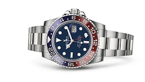 """GMT-MASTER II<br><span class=""""watch-des"""">Oyster, 40 mm, white gold</span>"""